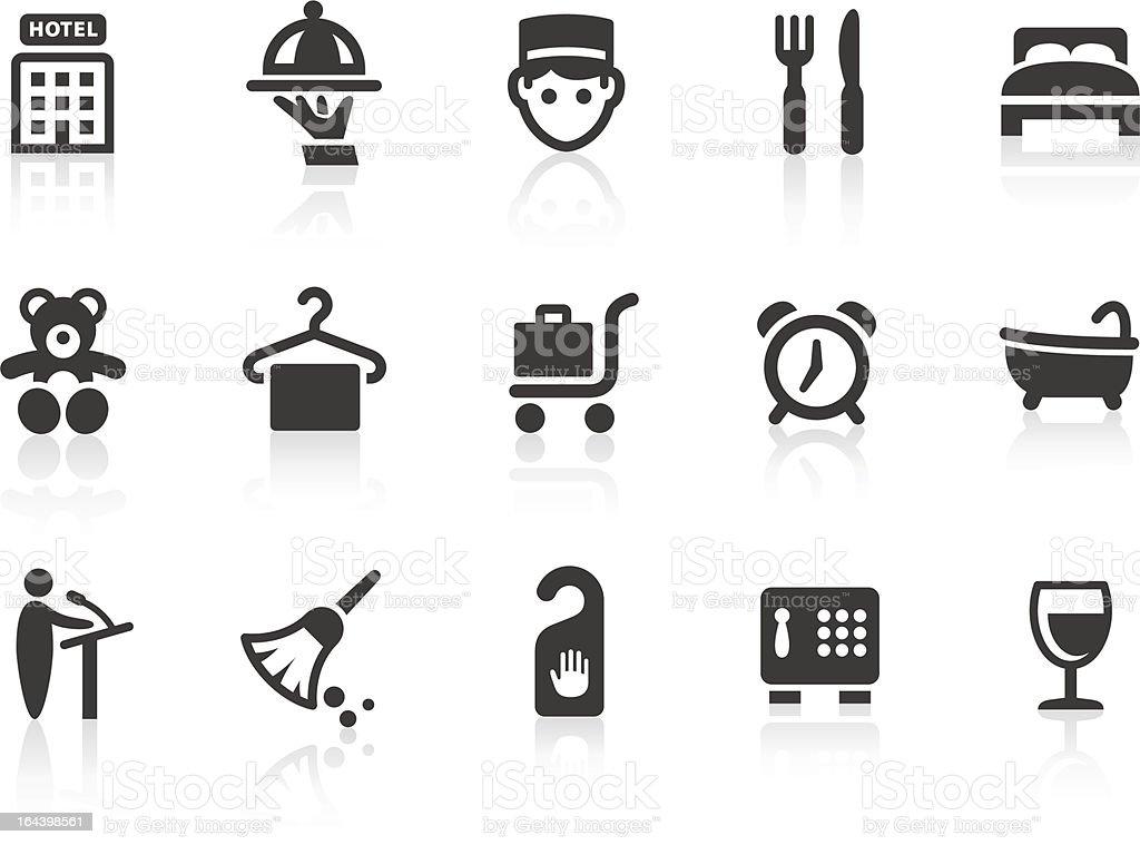 Hotel icons 1 vector art illustration