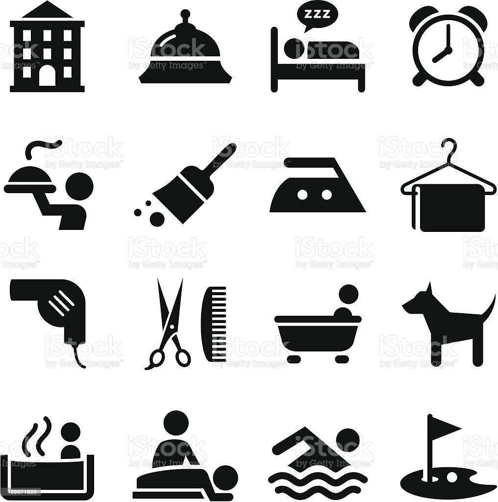 Hotel Icons - Black Series vector art illustration
