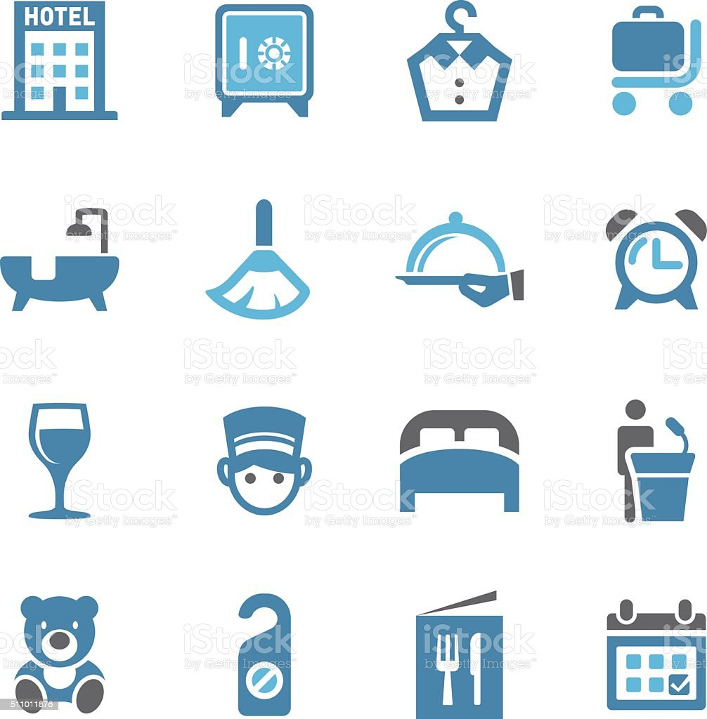 Hotel Icons - Conc Series vector art illustration