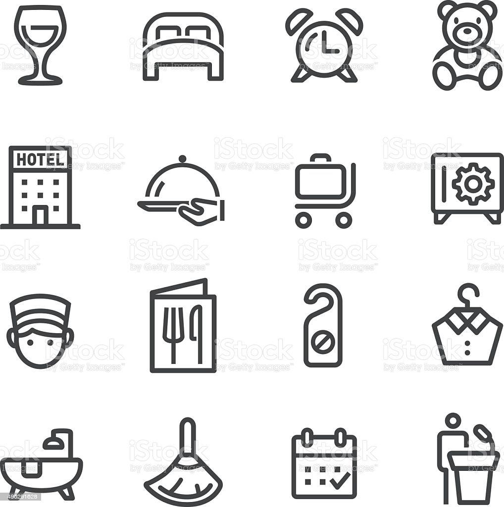 Hotel Icons - Line Series vector art illustration