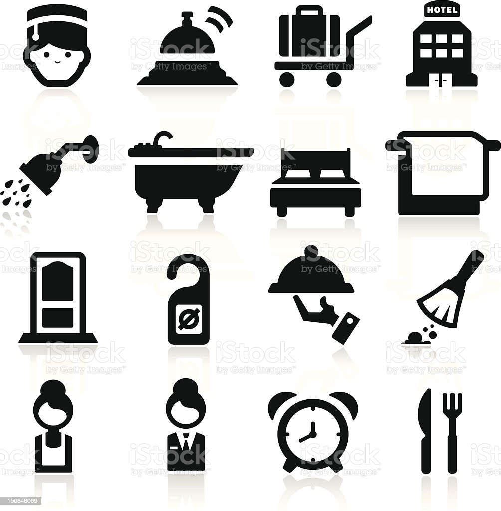 Hotel icons set - Elegant series royalty-free stock vector art