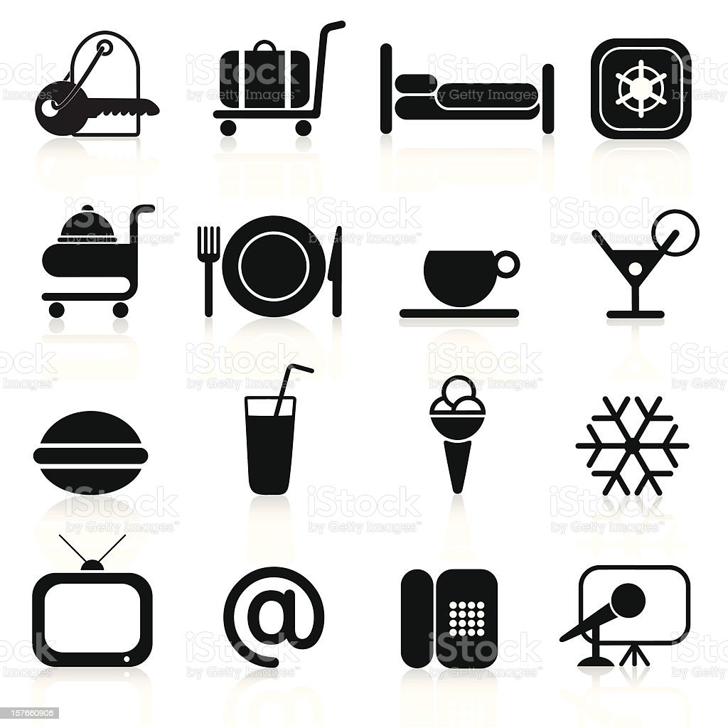 Hotel Icons Set - Part 1 (1/2) royalty-free stock vector art