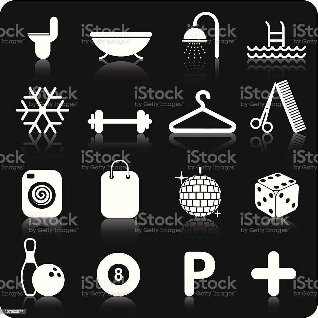 Hotel Icons Set - White / part 2 (2/2). royalty-free stock vector art