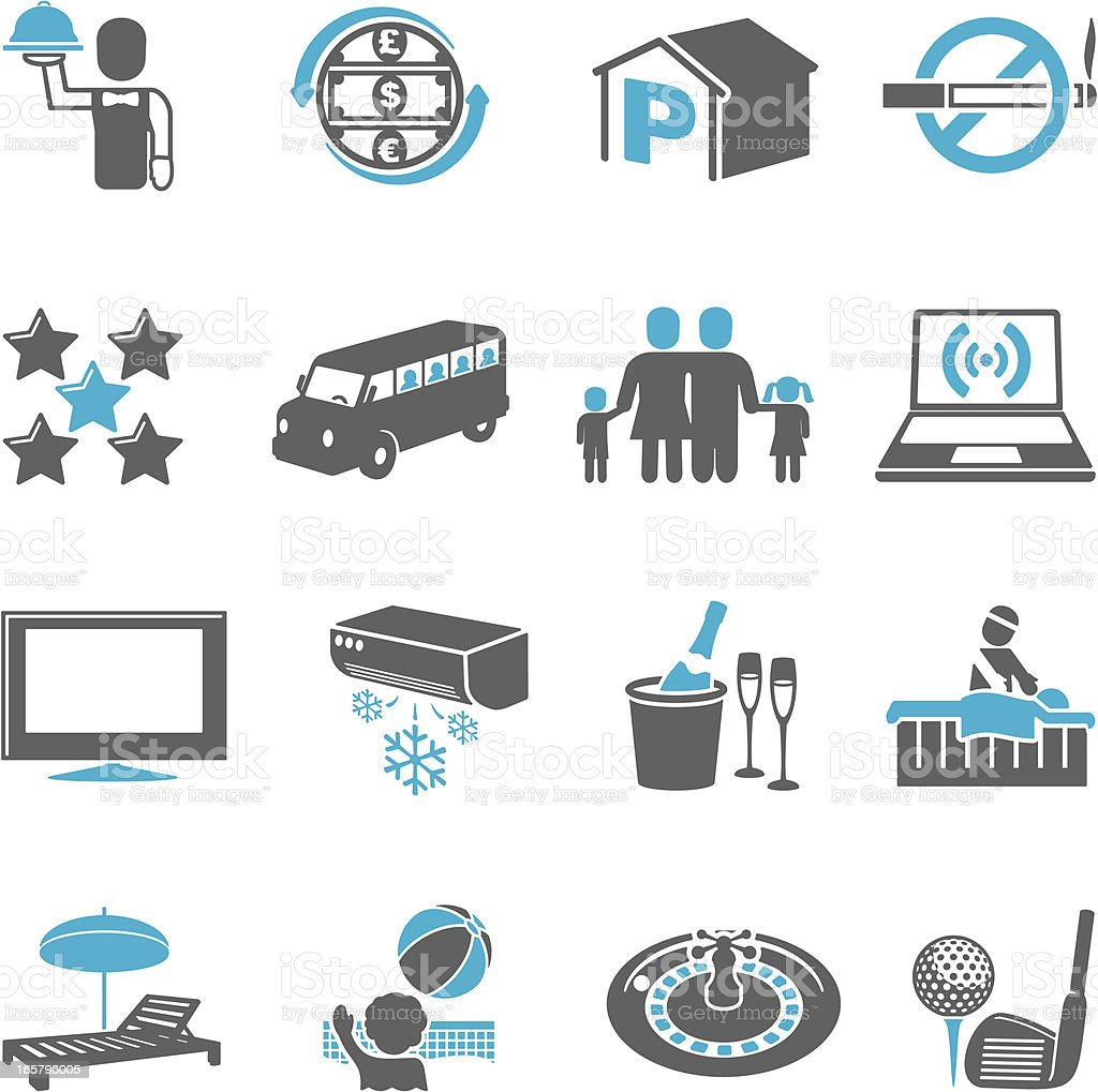 Hotel Icons vector art illustration