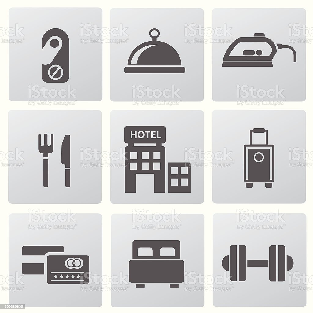 Hotel icons,vector royalty-free stock vector art