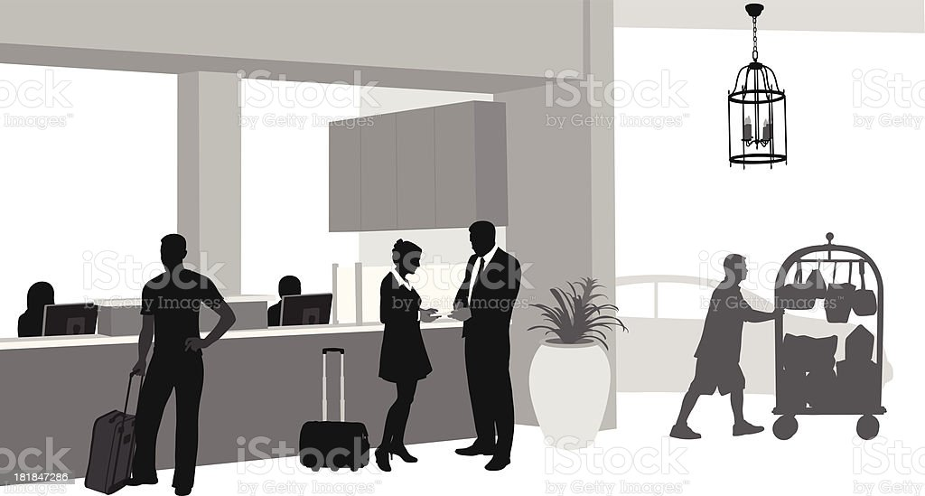 Hotel Near Airport royalty-free stock vector art