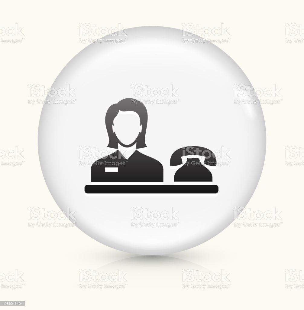 Hotel Receptionist icon on white round vector button vector art illustration