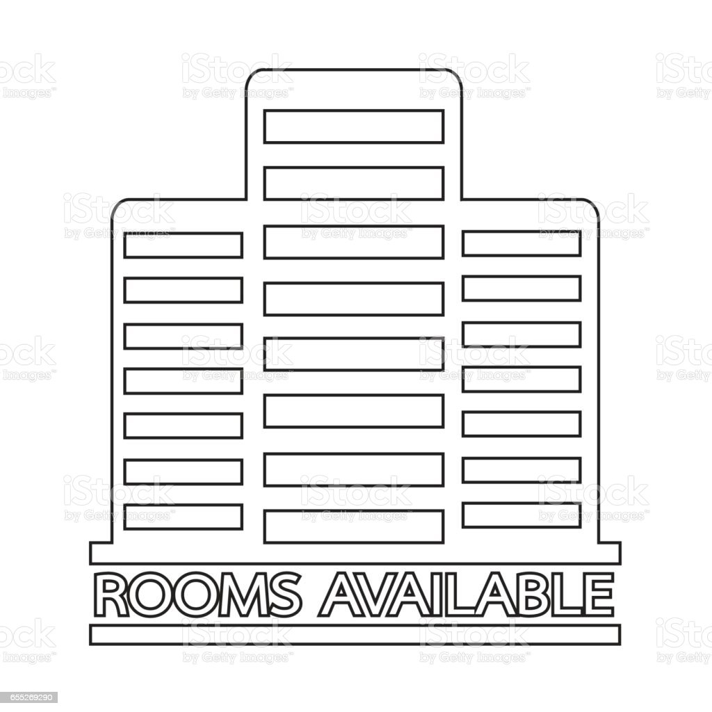 Hotel Rooms Available icon Illustration design vector art illustration