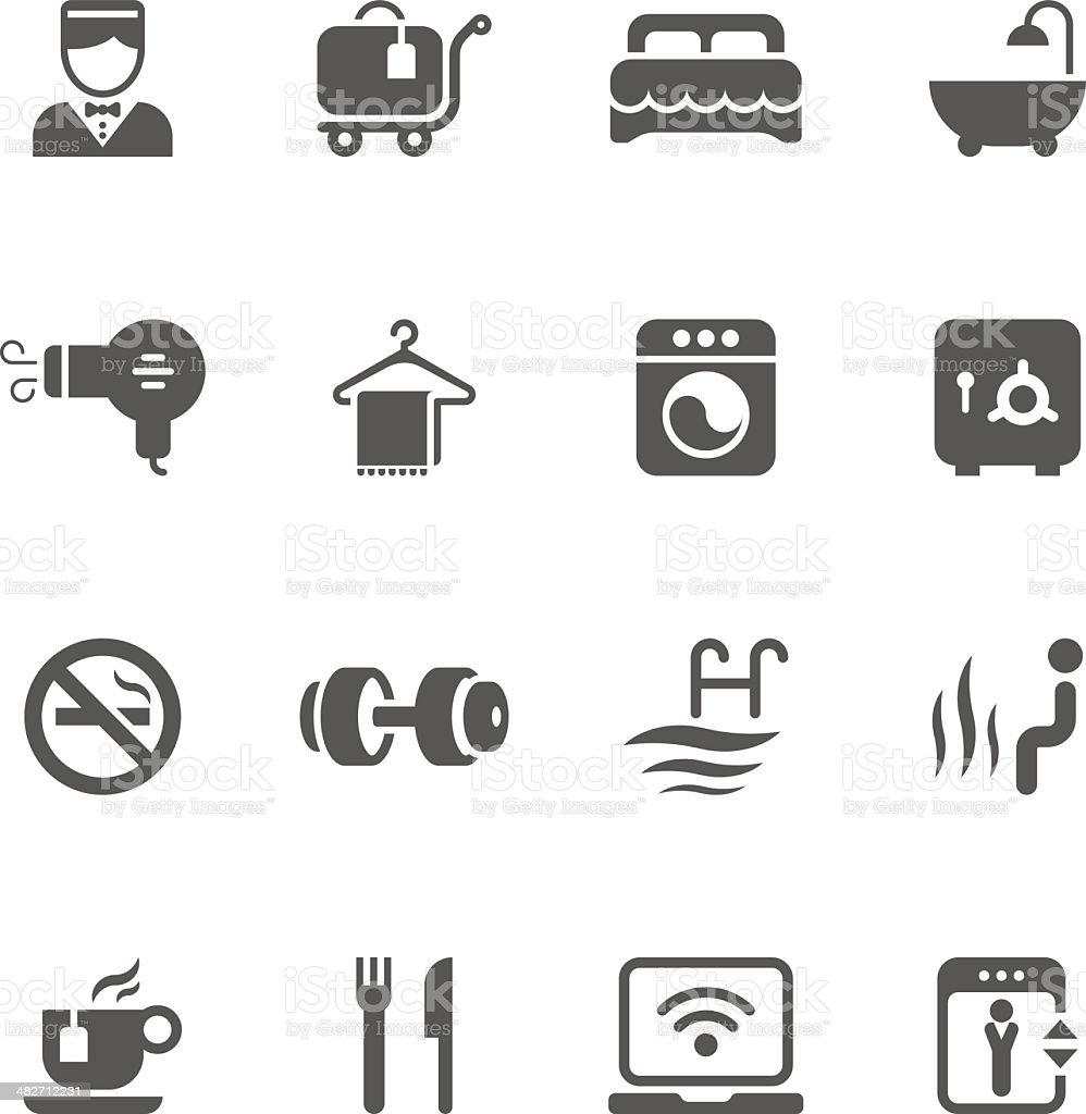 Hotel Service & Equipment Icon Set   Unique Series vector art illustration