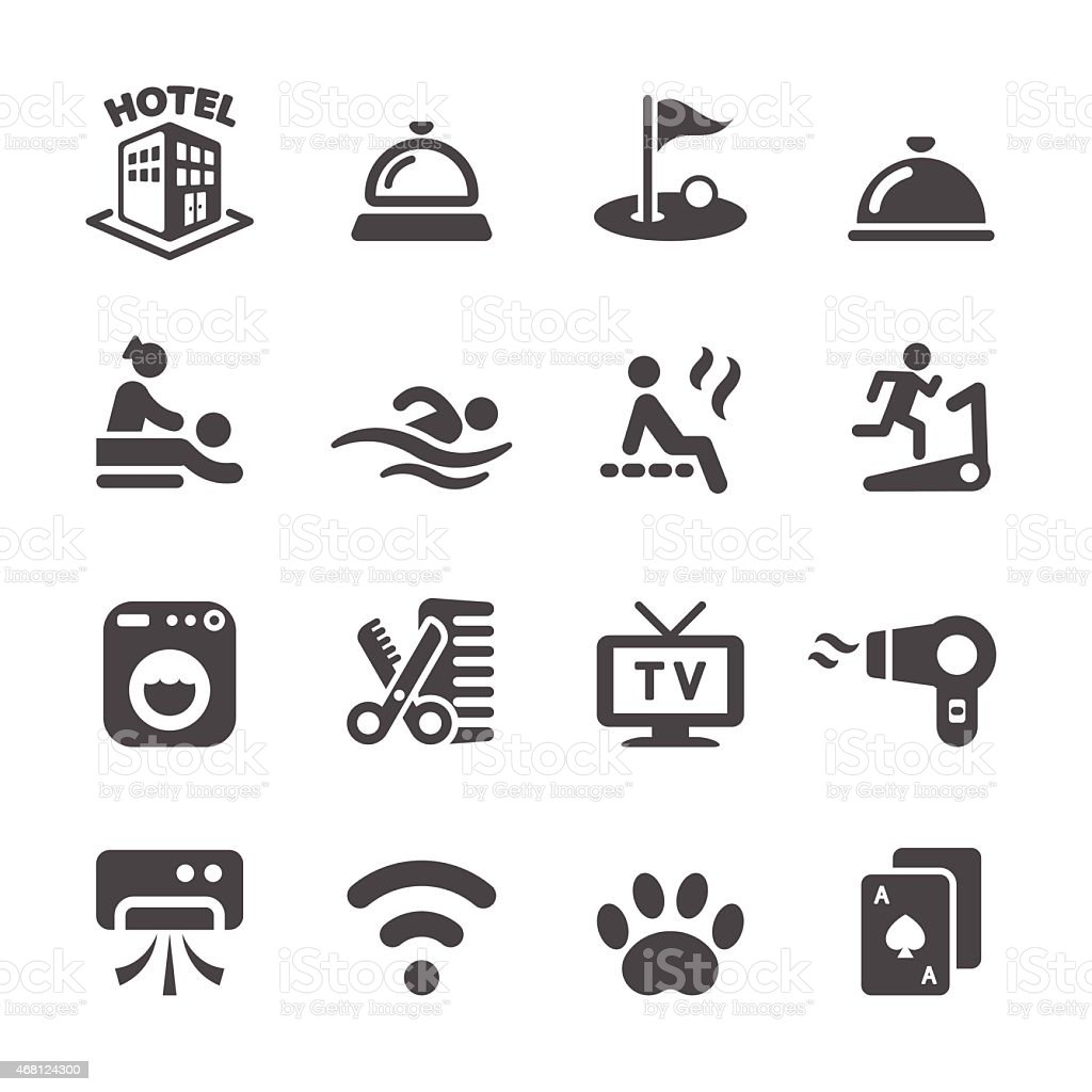 hotel service icon set 4, vector eps10 vector art illustration