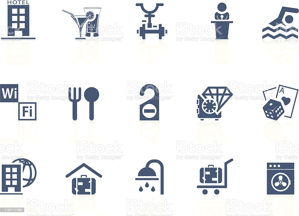 Hotel service icons | Piccolo series royalty-free stock vector art