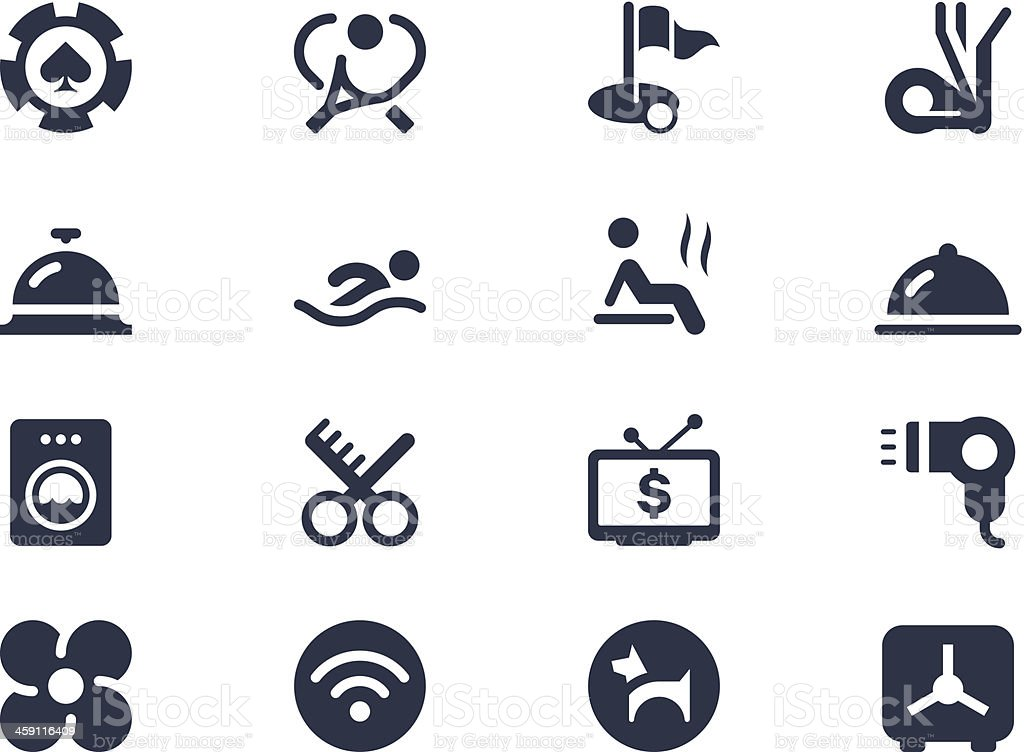 Hotel service icons vector art illustration