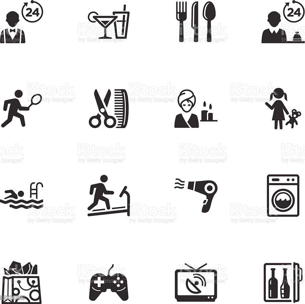 Hotel Services and Facilities Icons - Set 2 royalty-free stock vector art