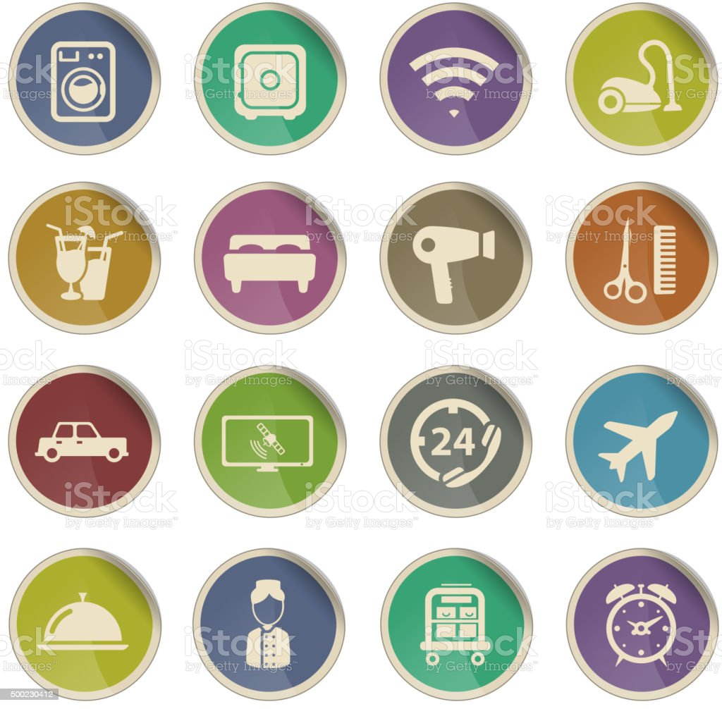 A Hotel Simply Hotel Simply Icons Stock Vector Art 500230412 Istock
