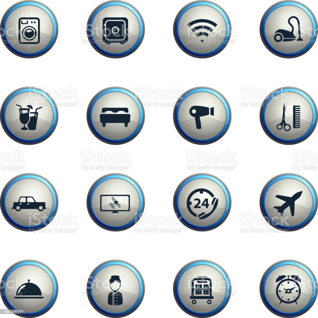 A Hotel Simply Hotel Simply Icons Stock Vector Art 501536534 Istock