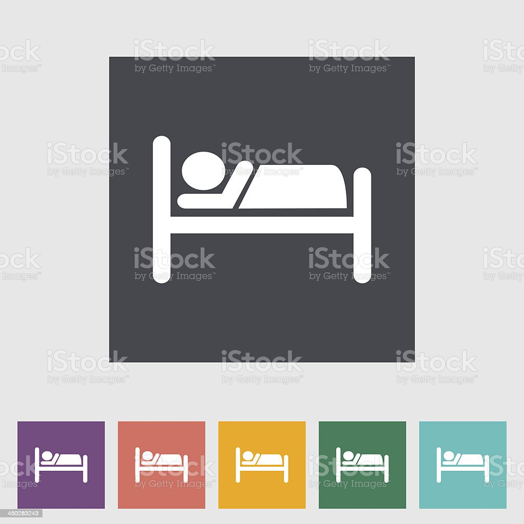 Hotel single icon. vector art illustration