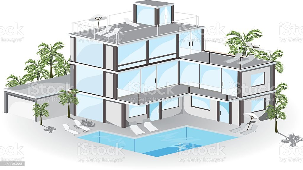 Hotel. royalty-free stock vector art