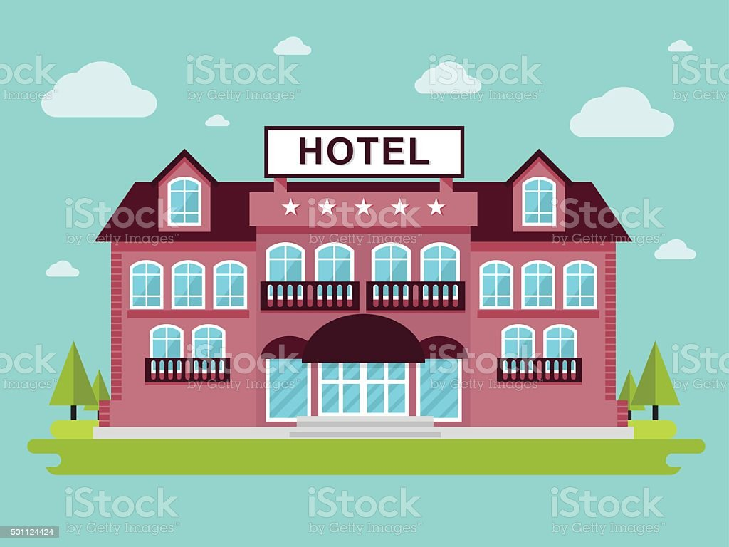 Hotel vector art illustration