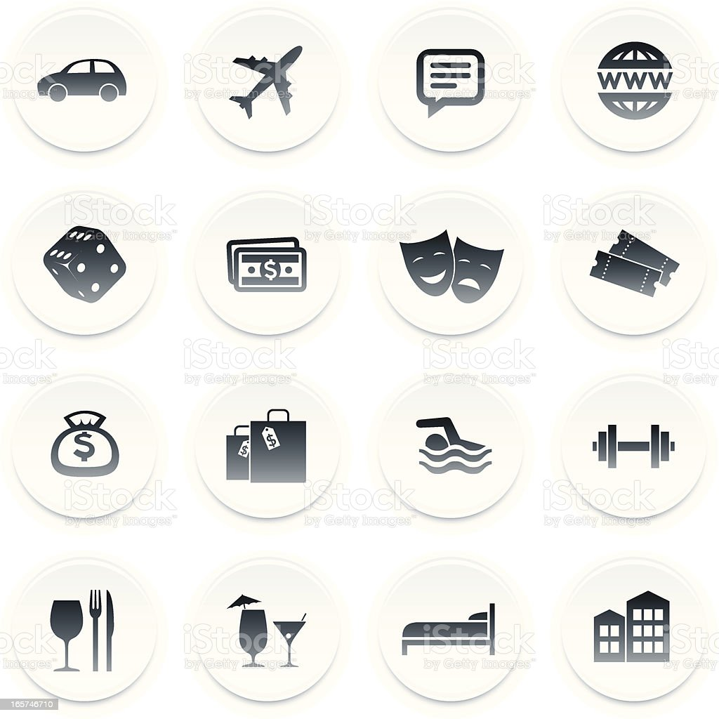 Hotel/casino icons royalty-free stock vector art