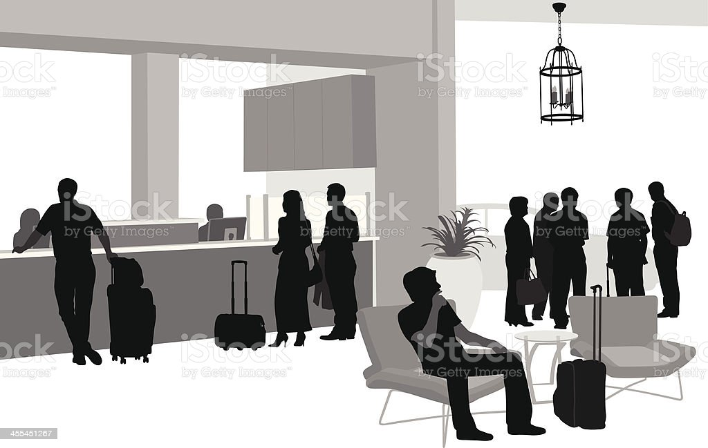 Hotel'n Travel vector art illustration
