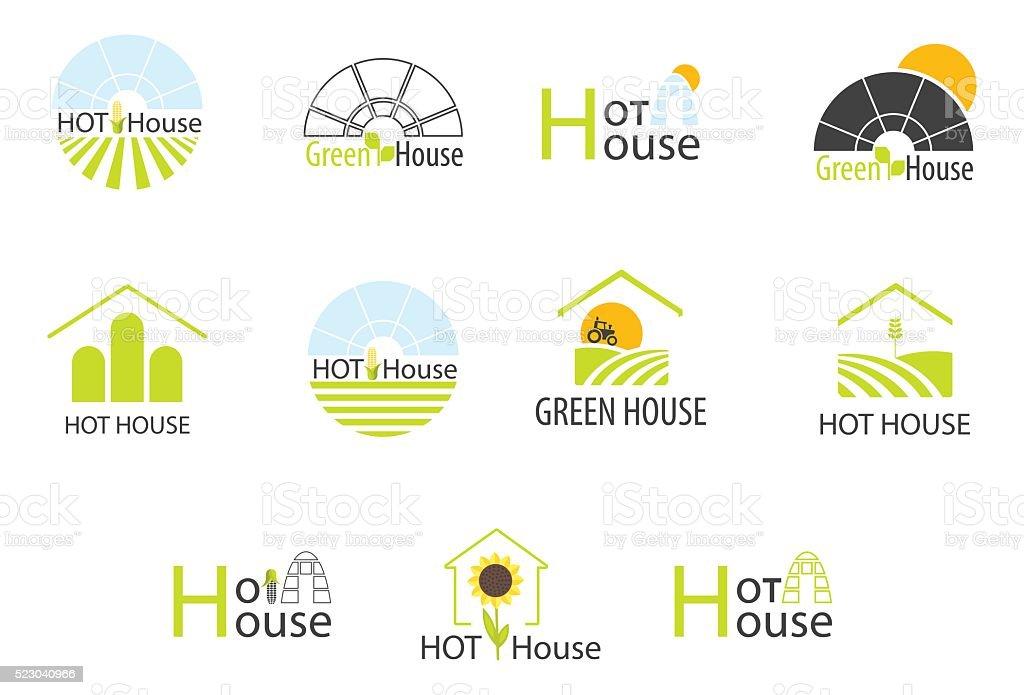 Hothouse logos collection vector art illustration