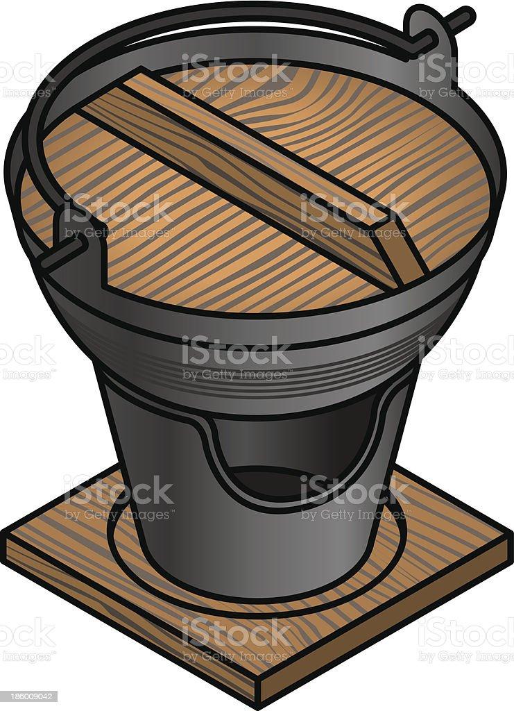 Hotpot vector art illustration