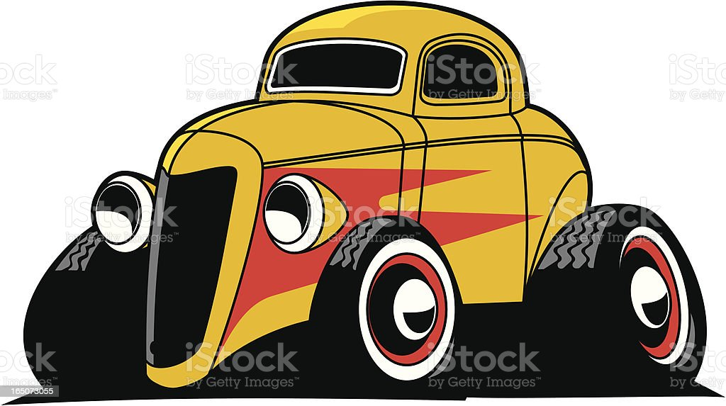 Hotrod Coupe royalty-free stock vector art