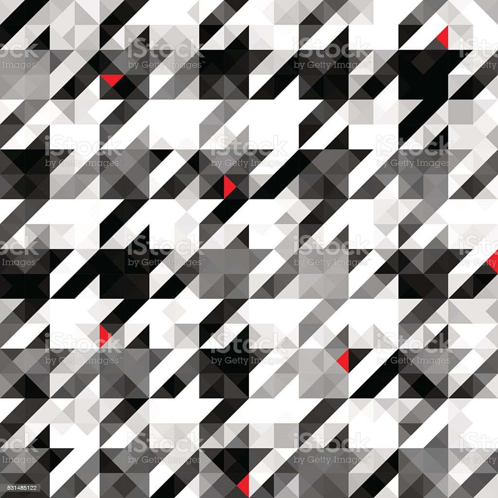 Houndstooth pattern on abstract geometric background vector art illustration
