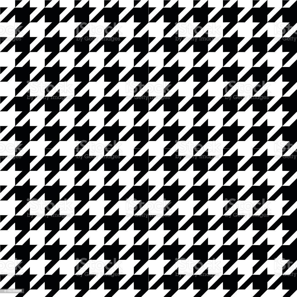 Houndstooth pattern vector art illustration