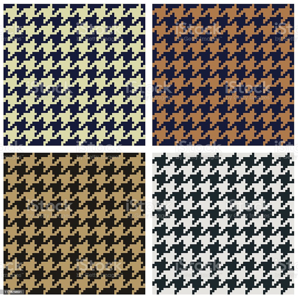 Houndstooth seamless fabric pattern royalty-free stock vector art