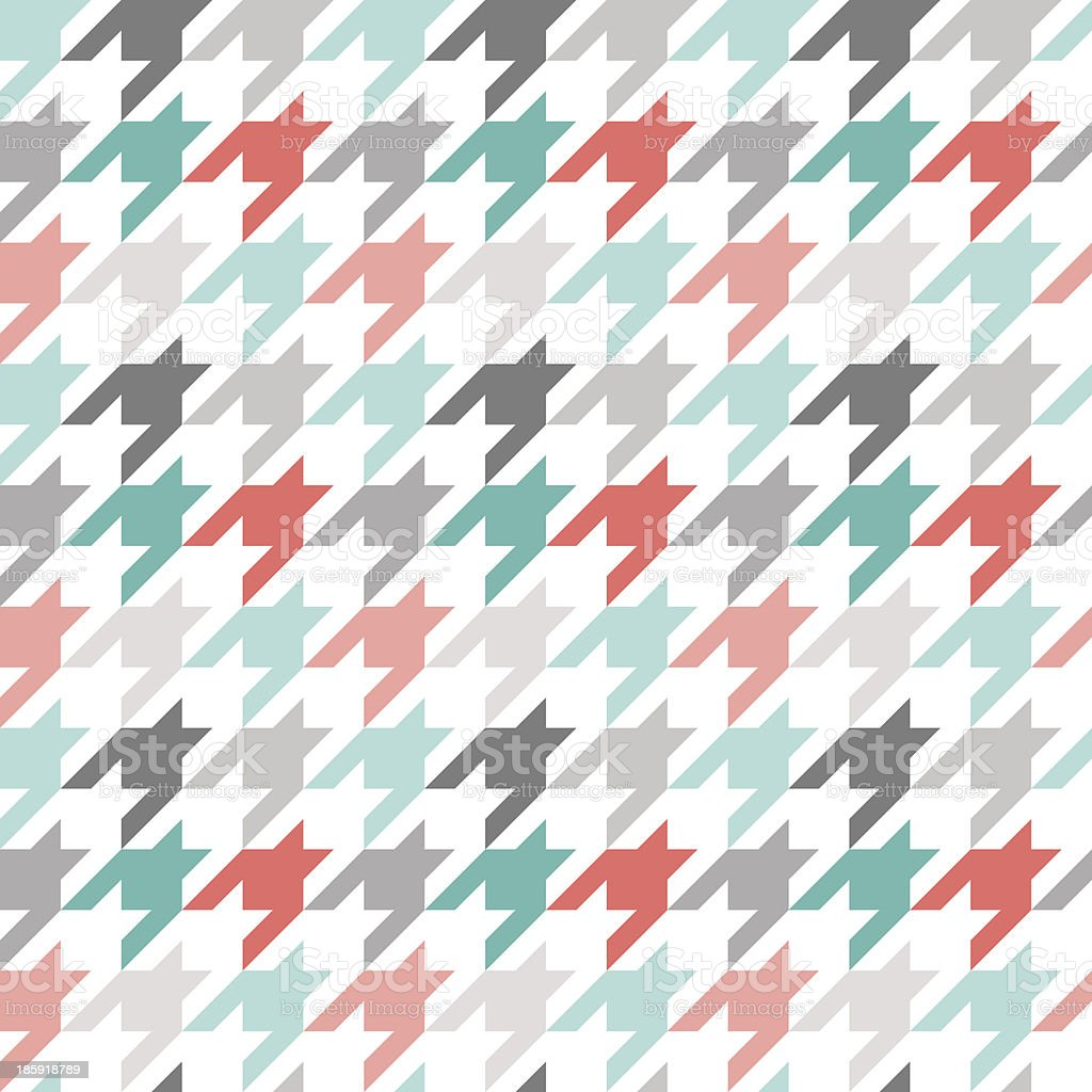 Houndstooth seamless pattern, colorful vector art illustration