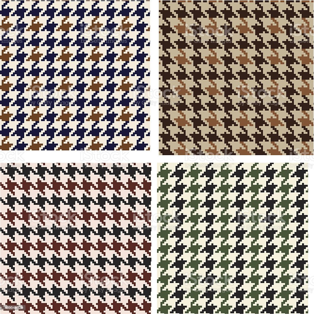 Houndstooth seamless pattern royalty-free stock vector art