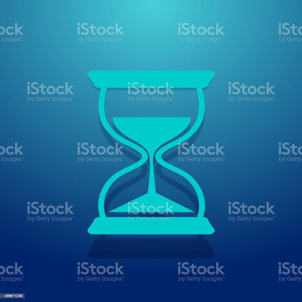Hour Glass Icon vector art illustration