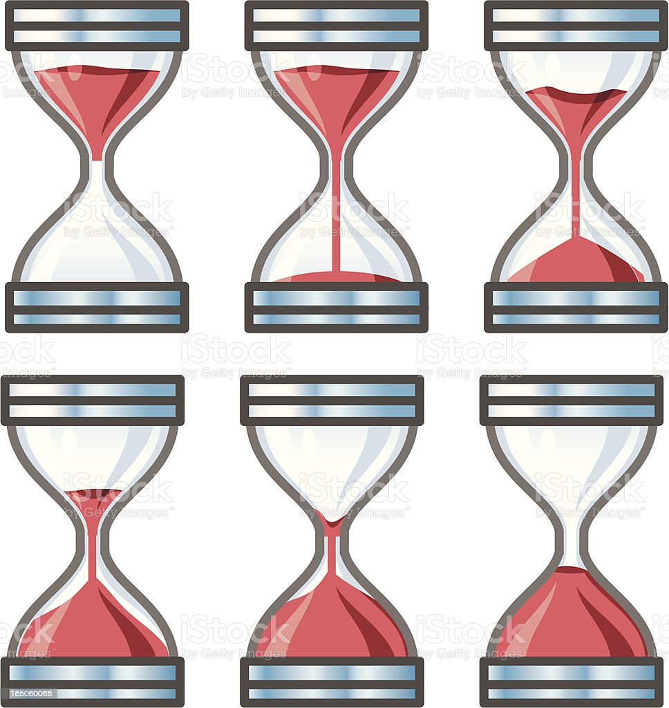 Hour glass timer royalty-free stock vector art