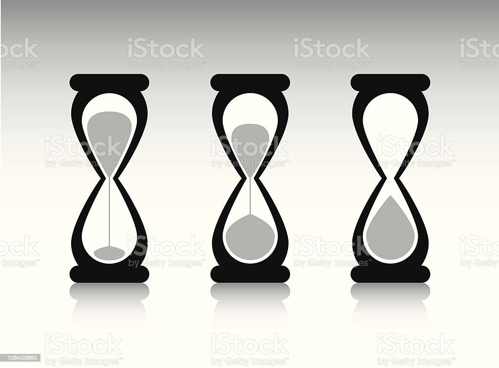 Hour Glass royalty-free stock vector art