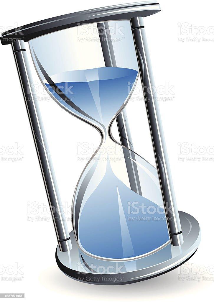 Hour glass vector art illustration