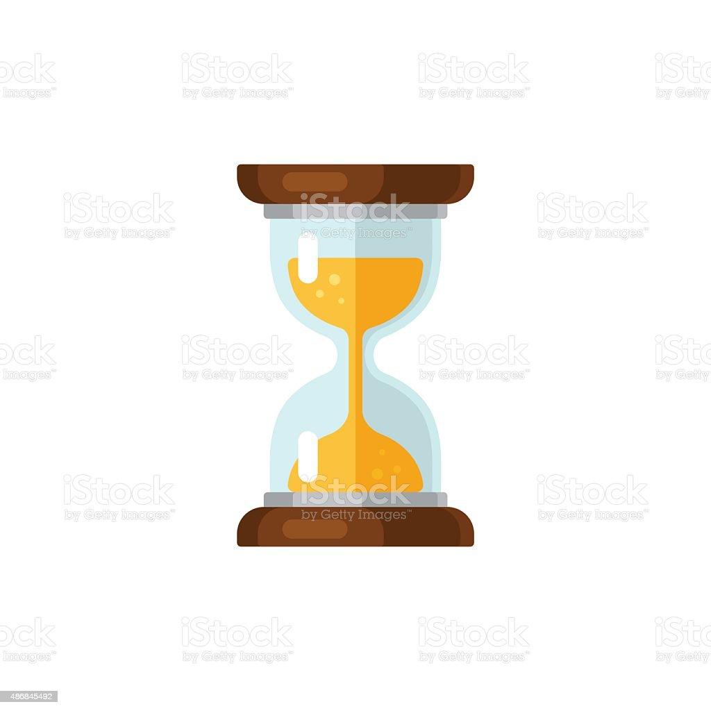 Hourglass icon vector art illustration