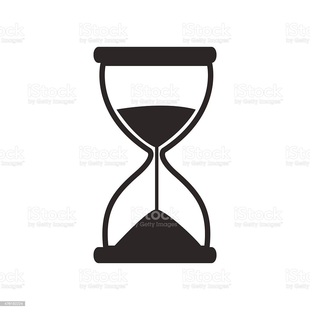 Hourglass icon vector vector art illustration