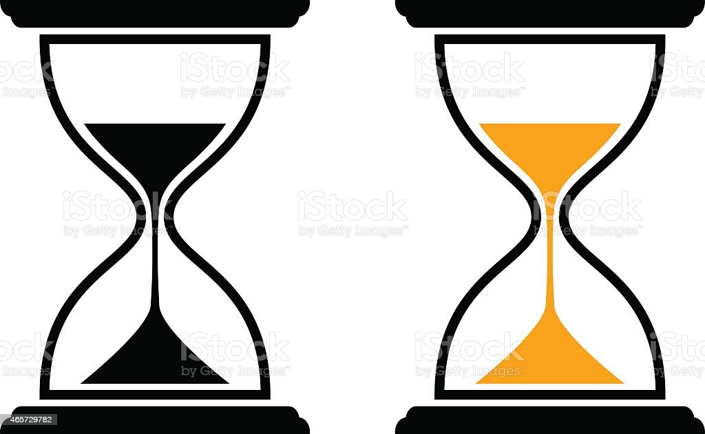 Hourglass icons vector art illustration
