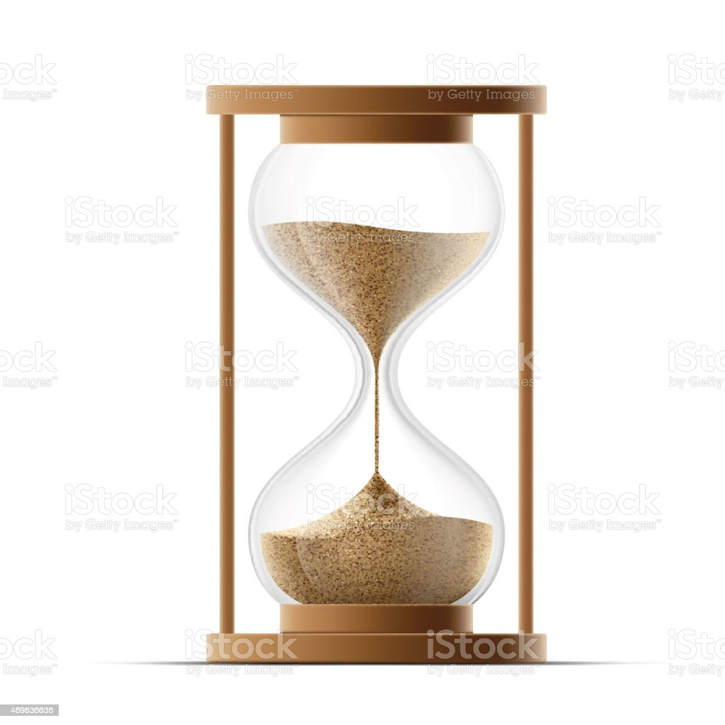 hourglass isolated on white background. vector art illustration