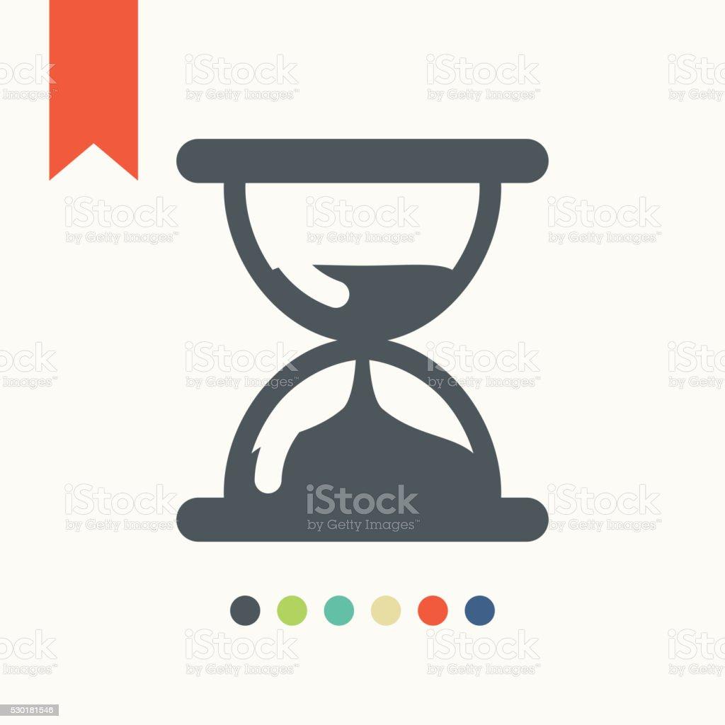 Hourglass, sand glass clock icon vector art illustration