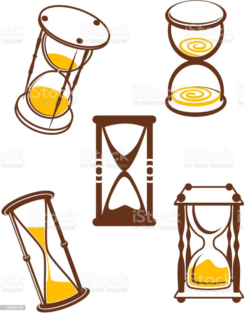 Hourglass symbols royalty-free stock vector art