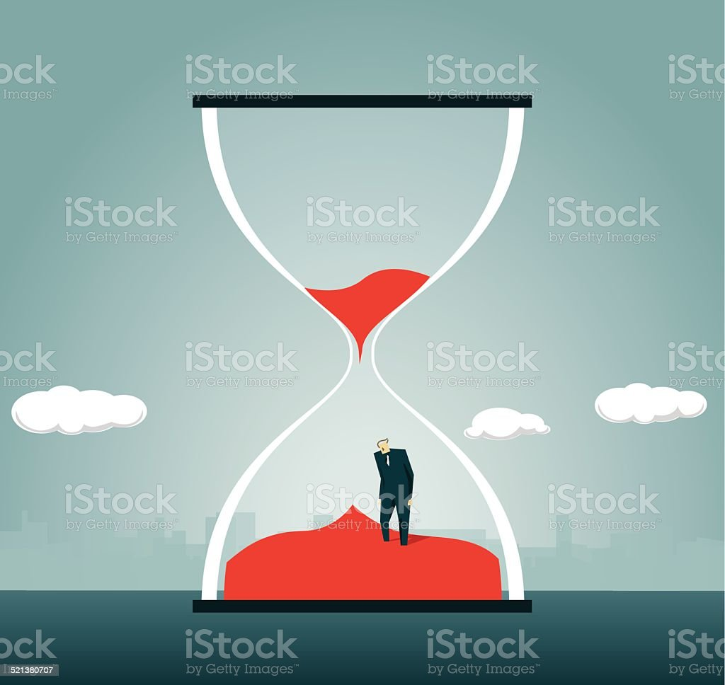 Hourglass, Urgency, Timer vector art illustration
