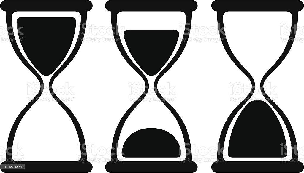 Hourglass. vector art illustration