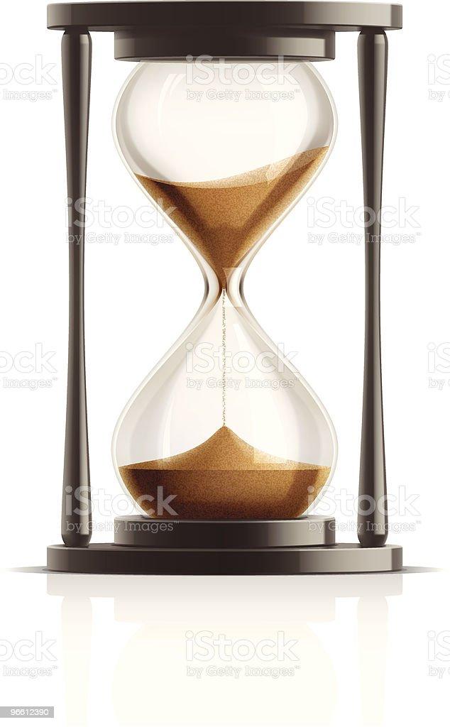 Hourglass vector art illustration
