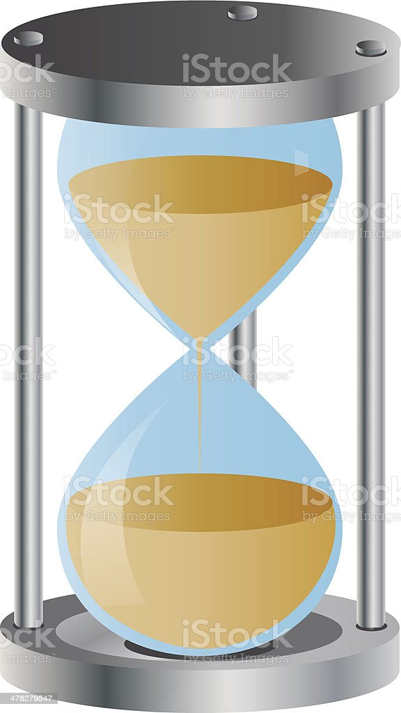 Hourglass vector illustration royalty-free stock vector art