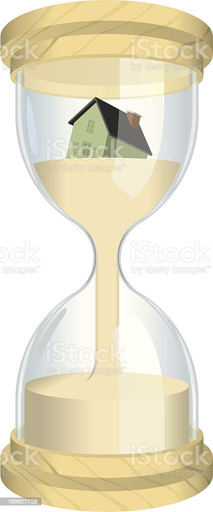 Hourglass with House royalty-free stock vector art