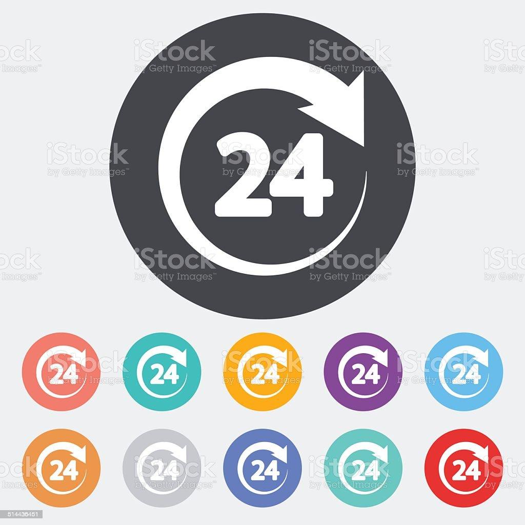 Hours 24 vector art illustration