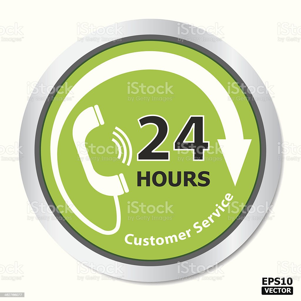 24 hours customer service. royalty-free stock vector art