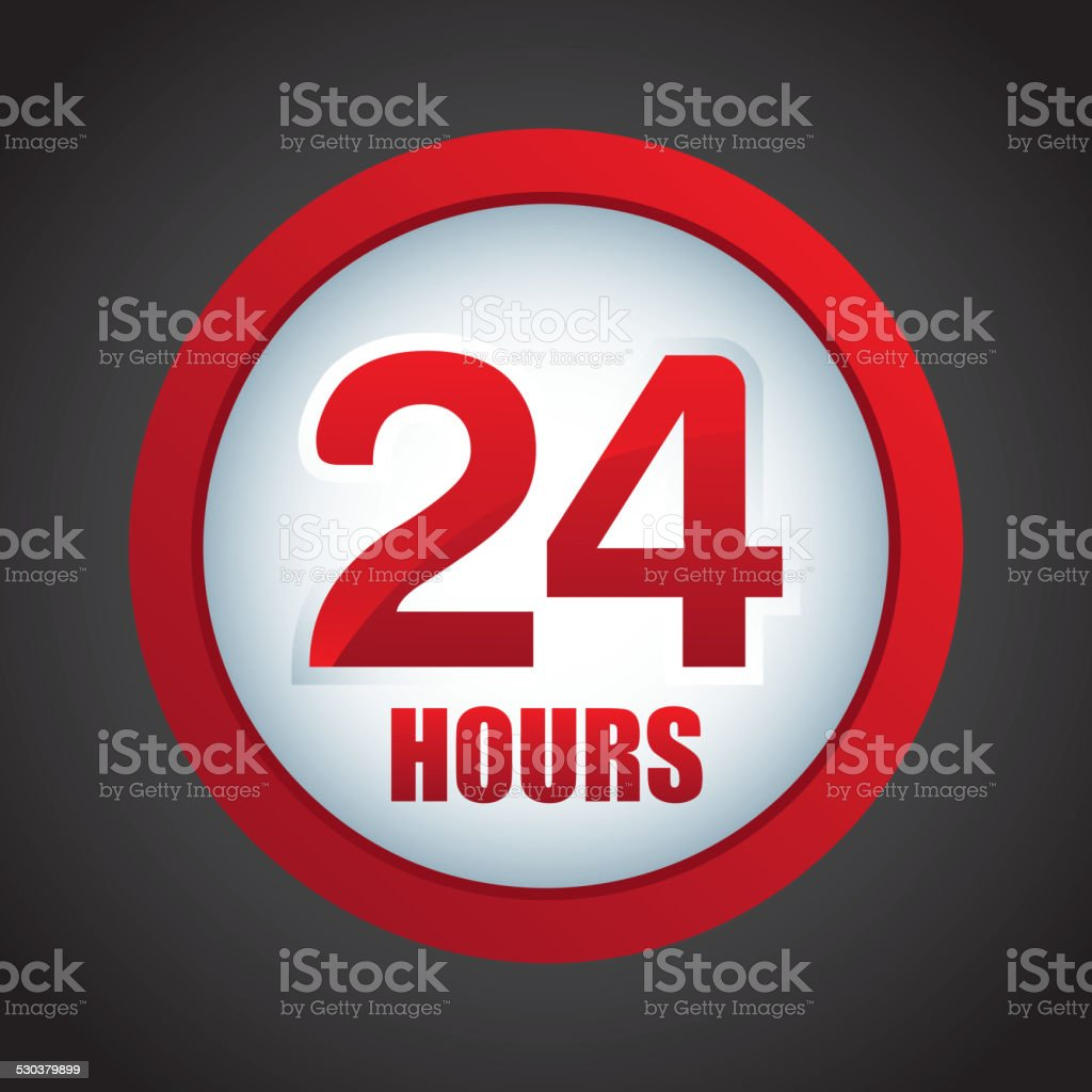 24 hours vector art illustration